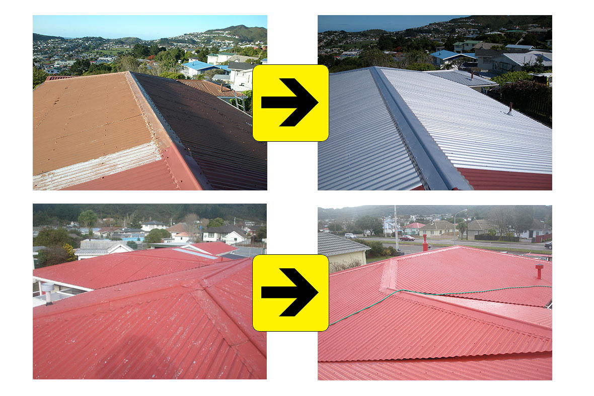 Roof Repair in Wellington - Long Rung Iron