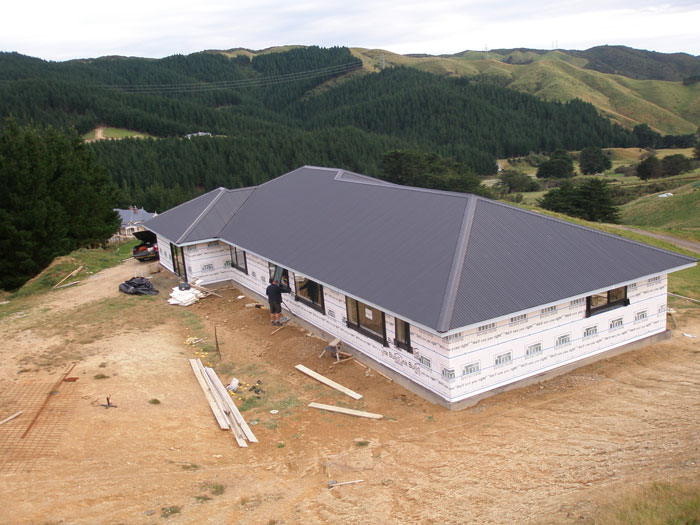 New House Roof in Wellington - Long Rung Iron