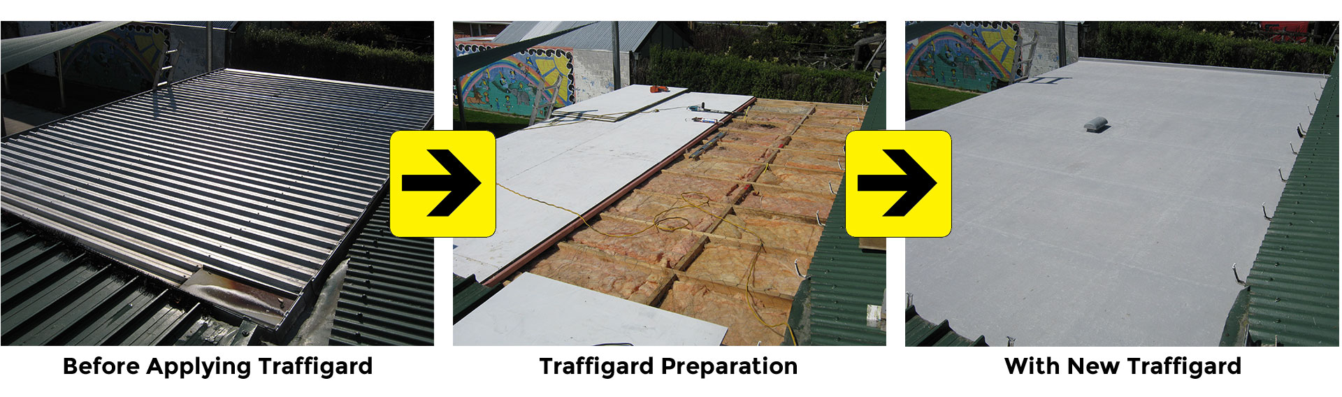 Traffigard Roofing - Traffigard Application